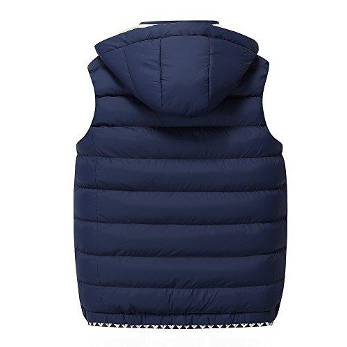 URBANFIND Herren Regulär Fit Beiläufige Mit Kapuze Puffer Vest Zipper Steppjacke Blau