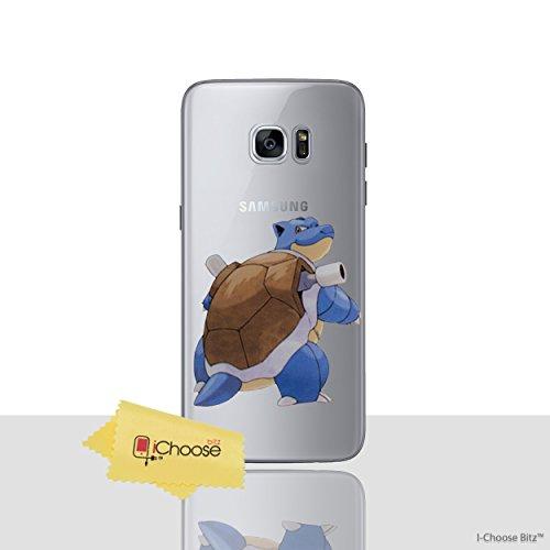 Galaxy s6 edge pokemon caso in silicone / blastoise copertura del gel per samsung galaxy s6 edge (s6 edge/g925) protezione dello schermo e panno / ichoose