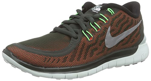 Nike - Free 5.0 Flash, Scarpe da corsa Donna Marrone (Braun (Sequoia/Rflct Silver-Vltg Grn 300))