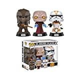 Funko Set 3 Figuren Pop. Star Wars Tarfful Unhooded Emperor Utapau Clone 2017 Fall Convention Exclusive
