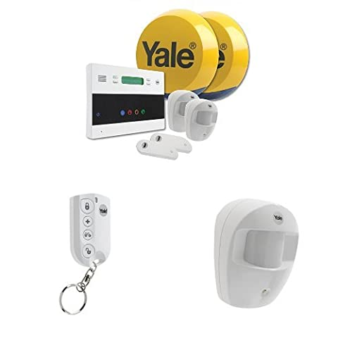 Yale YEFKIT2 Easy Fit Telecommunication Alarm Kit with Easy Fit Remote Keyfob and extra PIR Motion Detector