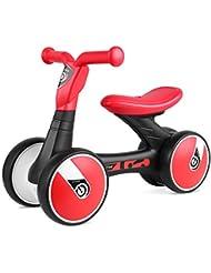 Bamny Baby Balance Bike No Pédale Baby Car Ride on Toy pour 1-3 Ans Enfants Walker Âges 12-36 Mois Durable Toddler Tricycle Infantile Premier Anniversaire Cadeau Intérieur Extérieur