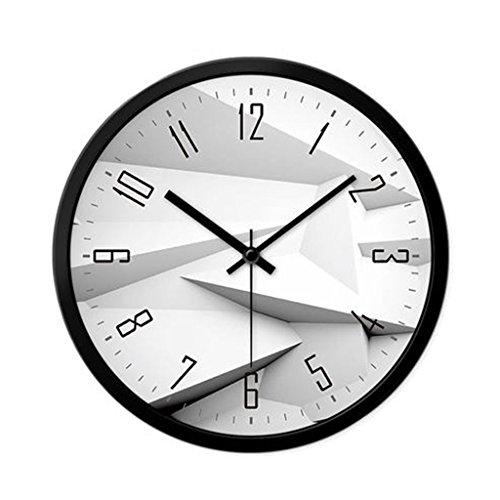 Zuoanchen 12 pollici silenzioso orologio da parete al quarzo senza ticchettio moderno moderno colorato orologio da cucina floreale interno (nero, grigio, bianco)