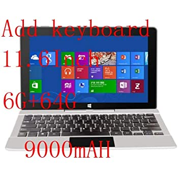 Jumper EZpad 6 Pro 2 en 1 Tableta 11.6 Pulgadas 1080P tabletas con Pantalla IPS Intel
