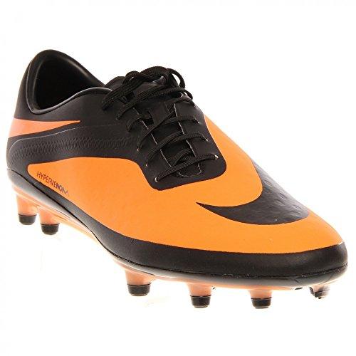 Nike HYPERVENOM Phatal FG, Chaussures de Football homme Black/Black/Bright Citrus
