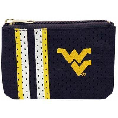 NCAA West Virginia Mountaineers Athletic Mesh Coin Purse Keychain by