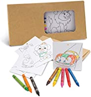 Cardboard painting set, including 8 crayons and 8 cards