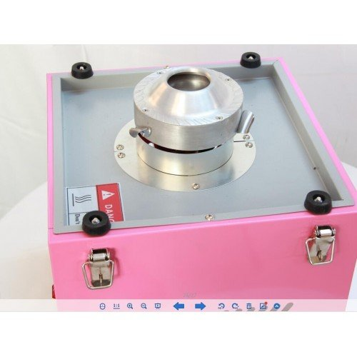 Candyfloss machine with metal bowl