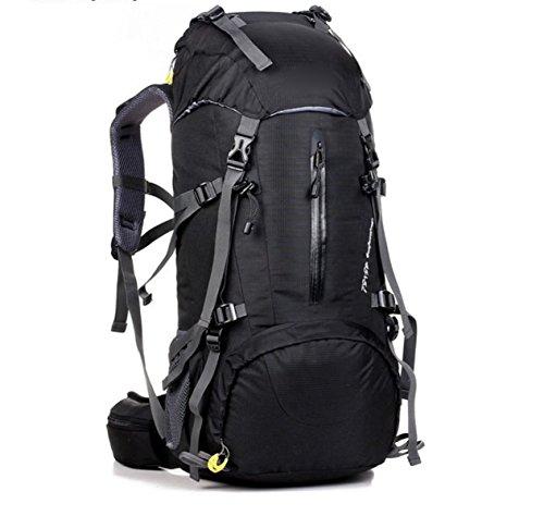 Borsa Per Alpinismo Da Esterno 50L Borsa A Tracolla Doppia Con Trekking,Black Black