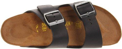 Birkenstock Arizona Black Mens Sandals Black Oiled Leather