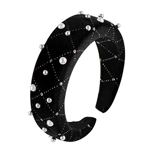 SuperSU Damen Vintage Einfache Schwamm Perle Design Wide-Krempe Headband Zubehör,Haarspangen Stirnbänder,Mode Wild Haarbänder,Sport Yoga Casual haarband,Eine Vielzahl von Farben -