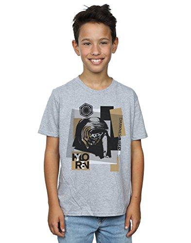 Star Wars niños The Last Jedi Kylo REN Patchwork Camiseta 5-6 Years Gris Sport