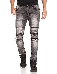 BLZ jeans - Jean street gris homme déchiré