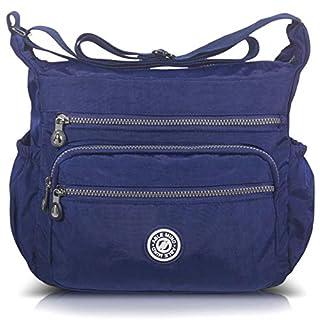 ABLE Large Anti-splash Water Casual Handbag Messenger Bag Shoulder Crossbody Travel bags, Blue( Larger), large
