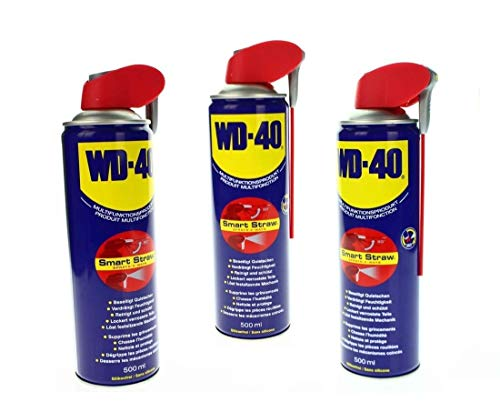 3x 500ml WD-40 Multifunktionsspray Multifunktionsöl SMART STRAW 41034