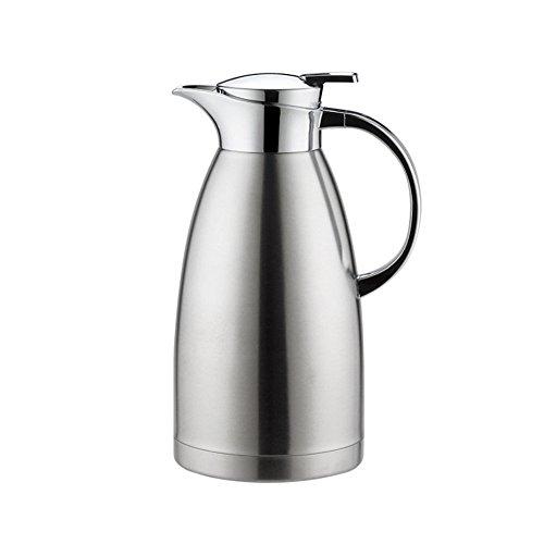 Haosen 1,8 Liter Edelstahl Doppelschicht Vakuum kaffeekanne Haushalt thermosflasche Europäischen Stil thermosflasche - Heiß und kalt dual Gebrauch (Silber) -