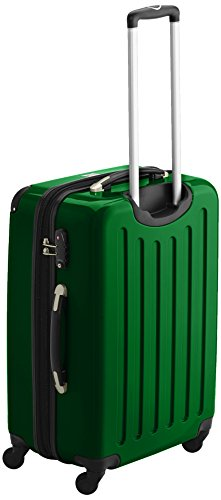 HAUPTSTADTKOFFER - Alex - 2er Koffer-Set Hartschale glänzend, TSA, 65 cm, 74 Liter, Aubergine-Silber Grün-Apfelgrün