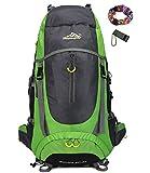 Onyorhan 70L Viaggio Zaino Trekking Escursionismo Alpinismo Arrampicata Campeggio per Uomo Donna (verde)