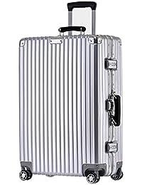 LYL Trolley Luggage Maleta con Ruedas, Maleta con Marco de Aluminio a Prueba de rayones Maleta de Viaje con Maleta…
