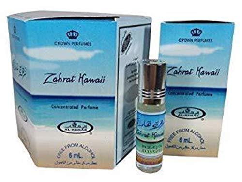Business Square Packung mit 6 Moschus Parfüm Al Rehab Zahrat Hawaii 6ml 100% Öl -