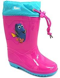 Botas de agua niñas rosa o turquesa Buscando a Dory y Nemo zapatos de lluvia de goma disney