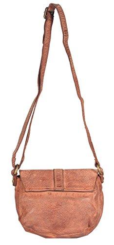 f522ed78a9788 ... Pastorano - kleine Umhängetasche Satteltasche Leder Vintage Used-Look  Country MEDITERRAN BAG Damen Schultertasche Ausgehtasche ...