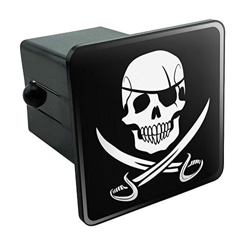 Pirat Skull Totenkopf gekreutzten Schwerter Jolly Roger Tow Anhängevorrichtung Cover Plug Einsatz 5,1cm Abdeckung Schwert