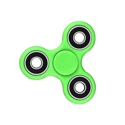 KD Tri-spinner Fidget Toy Hand Spinner – Stress Reducer, Durable Bearing Spinner with High Speed, Super Smooth and Well Balanced Fidget A Spinner Toy Stress Reducer - Perfect For Adult Children (Green)