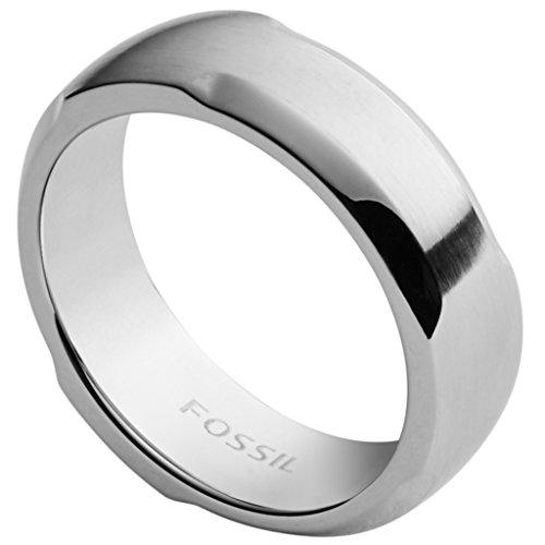 Fossil JF02361 Herren Ring Edelstahl Silber 19,1 mm Größe 60