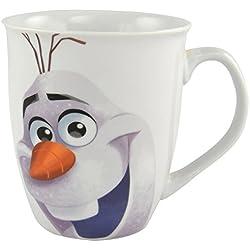 Disneys - Taza (350 ml), diseño de Olaf de Frozen, color blanco