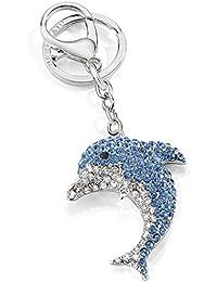 Morellato SD0343 señorías delfín Flipper latón azul Llavero de cristal