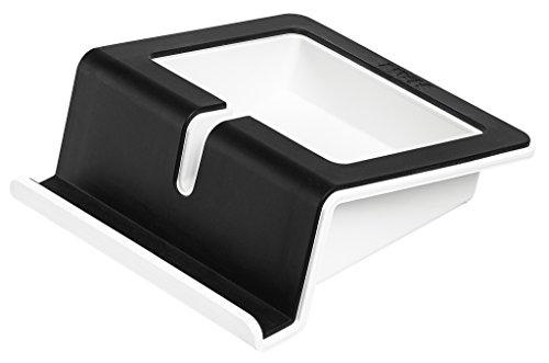 HAN Tablet Stand UP in Schwarz - Moderner Tablet Halter mit Softgrip Oberfläche und Kabelhalterung - Für alle gängigen Tablets und Smartphones -