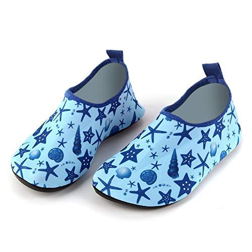HEYG-Diving equipment Strandschuhe für Wasser Leichte Wasserschuhe für Kinder Weiche untere Schuhe Strandschuhe Indoor Baby Kleinkindschuhe Bodenschuhe (Color : Blue, Size : M(26-27))