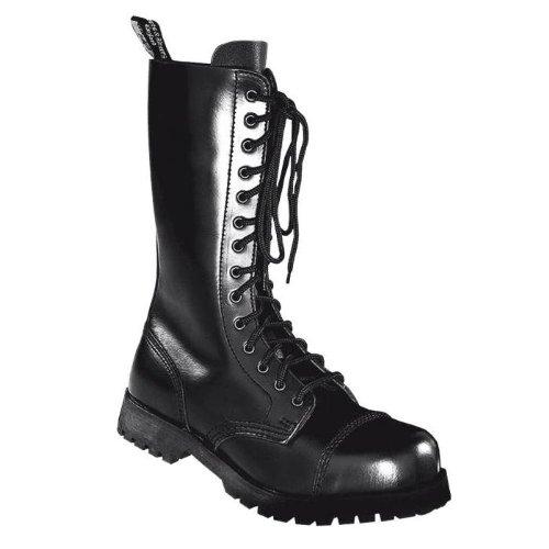 Boots & Braces Bottes rangers avec lacets 14 trous, Noir