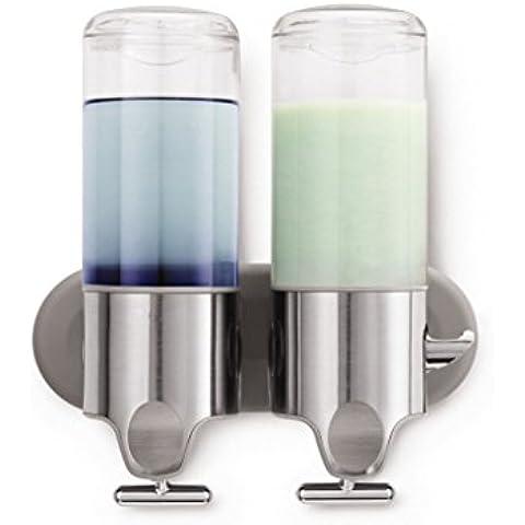 OOFAY YSPJ ® Presión y transparente uno dos tres líquido dispensador de jabón de jabón dispensador de acero inoxidable de la emulsión , 1000ml