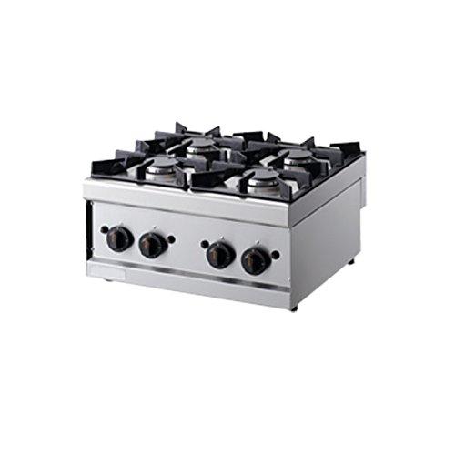 Cuisine 4 brûleurs à gaz - Dim.CM. 60 × 60