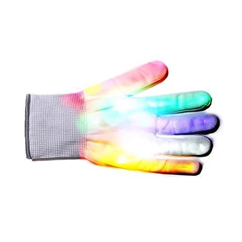 Led Gants,DoGeek Gant Lumineux,LED Rave Eclairage Clignotant d'Éclairage Gants légers