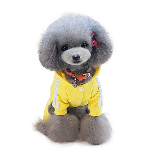 Kostüm Regenmantel Gelben - Ninasill ღ ღ Dick Haustier Kleidung Herbst Winter Fleece Pullover Lovely Kleidung Kostüm Casual Medium Gelb