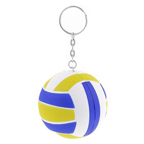 toogoor-jaune-bleu-blanc-6cm-dia-volley-ball-lien-decor-chaine-porte-cles