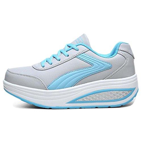 Solshine , chaussures compensées femme Blau2