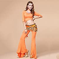 xl s WUDAOFU Latin Dance Outfits Performance Spandex Crystals/Rhinestones/Tassel 2 Pieces Sleeveless High Top/Pants