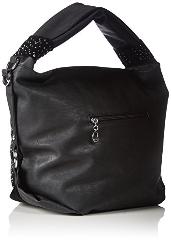 Sac big rose rouge/chouette rivets noir l x h x p) 45 x 36 x 17 cm Multicolore - Noir