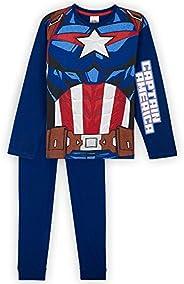 Marvel Pigiama Bambino di Capitan America, Pigiami in Puro Cotone, Idea Regalo per Bimbo, Avengers Pigiama Lun
