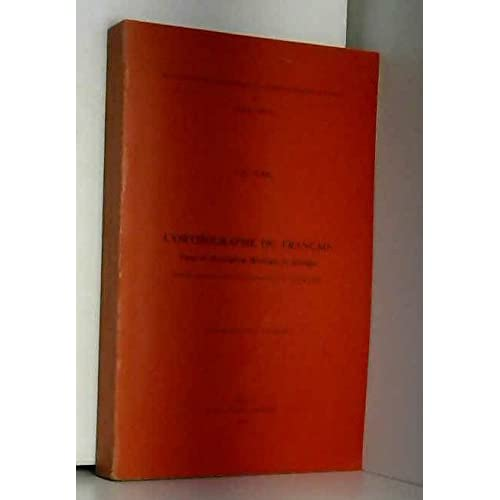 L'orthographe du français, 1976
