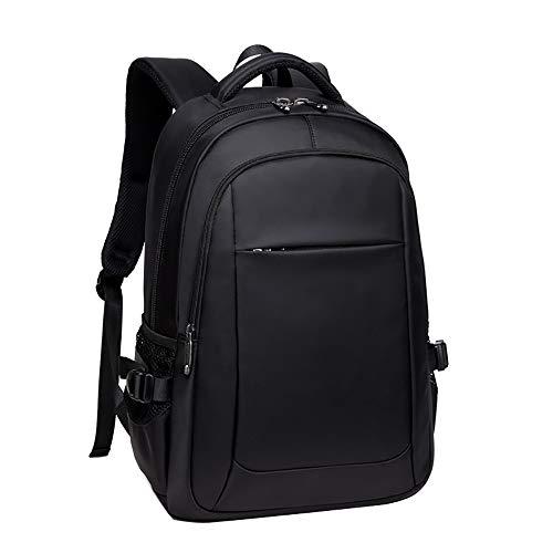 FLHT, USB Rucksack für Männer Frauen Junge Atmungsaktiv Tragbare Business Computer Tasche Reisetasche, Schwarz Jugend Mittelschüler Tasche