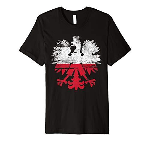Polen Flagge TShirt Polnischer Adler Wappen Shirt