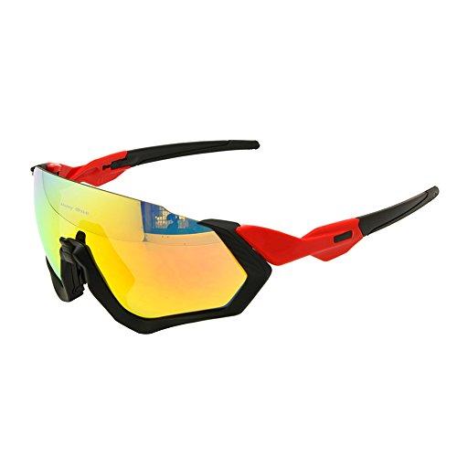 EnzoDate Polarisierte Radfahren Brille 3 Objektiv Kit UV400 Fahrrad Sonnenbrille Mountainbike MTB Outdoor Sportbrillen