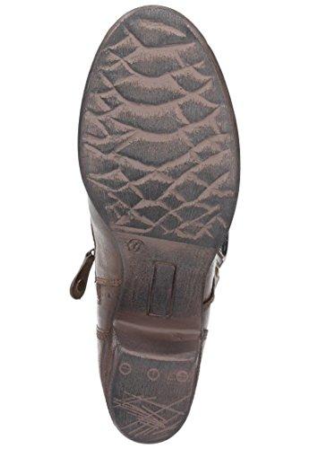 Manitu Damen Leder Stiefel, Stiefeletten braun, 961401-2 braun