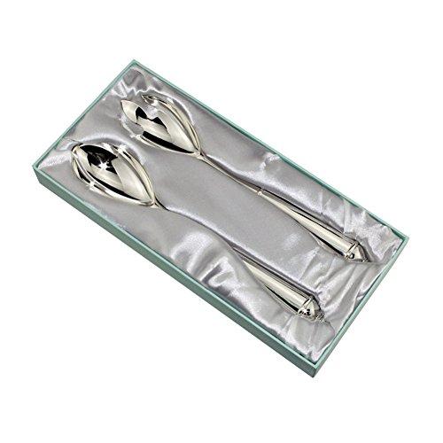 cucchiaio e forchetta, FGF Manaos / Bistro Espresso Spoon, Slimline lega di zinco Cena cucchiaio, 11inch Set di 1 (Spoon + Fork), RKS-TA008