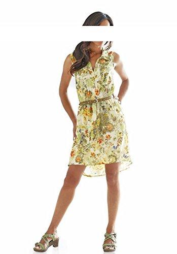 Linea Tesini Damen-Kleid Georgette-Druckkleid Mehrfarbig Bunt